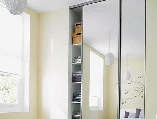 Porte coulissante miroir sur mesure - Glass Lab Paris